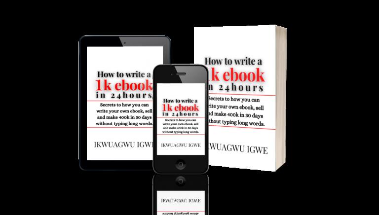 ikwuagwu igwe, 1k ebook, ebook in 24 hrs
